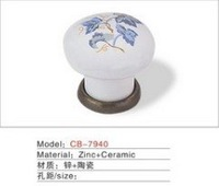 Best selling Ceramic Zinc Alloy Kitchen Cabinet Furniture Handle