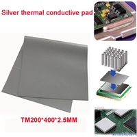 2.5MM Silver Thermal conductive Pad for VGA CPU Chipset  GPS GPU etc thermal compound Grease heatsink