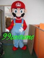 Free Shipping Adult Size Super Mario Luigi Cartoon Cosplay Mascot Costume Cosplay Christmas Hallowmas Party Dress