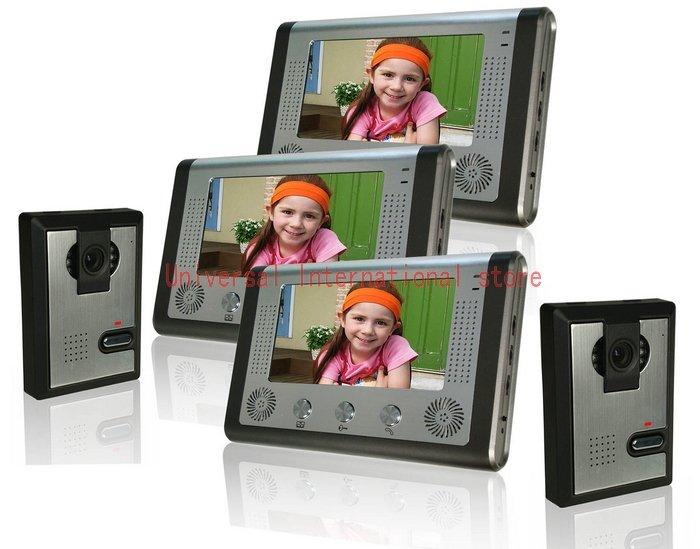 "7"" color TFT LCD video doorphone,video intercom system(China (Mainland))"