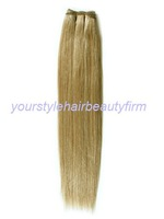 24 inch remy human hair weft 100grams silky straight weave color 18/22 free shipping