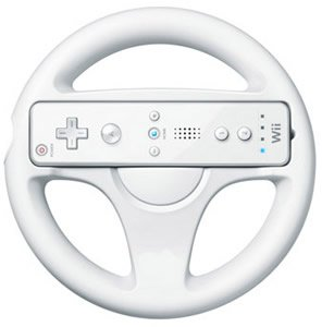 wholesale Free shipping Brand New Racing Games Steering Wheel For Nintendo Wii Mario Kart