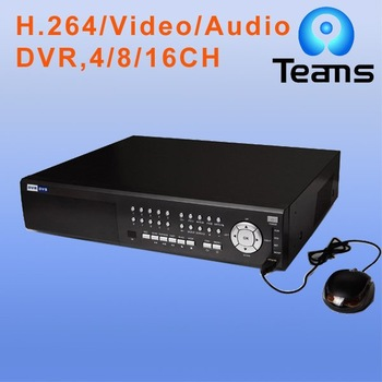free shipping 16CH stand alone dvr supporting 2 SATA HDD,IR/PTZ control
