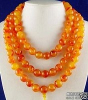 Wonderful rare chinese tibet amber 108 beads necklace  Fashion Free shipping A4342
