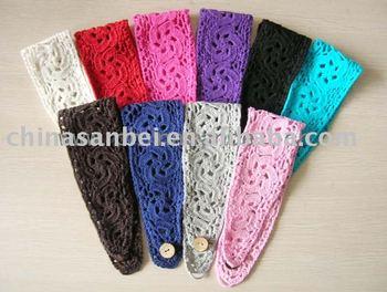 cotton Crochet knit Headband handmade Head Wrap MOQ 50pcs mix colors
