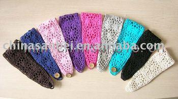 Free shipping Summer style cotton Crochet  Headbands handmade knit Head Wrap MOQ 50pcs mix colors