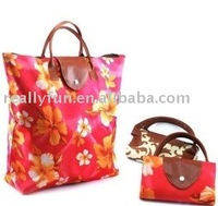 Foldable Polyester tote shopping Bag, waterproof shopping bag