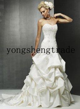 2011 Wedding Dress, Strapless Wedding Dress, Western Wedding Dress, Custom Wedding Dress, Accept    HS0190