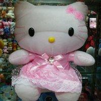 "Best Selling 12"" Hello kitty Toys Dolls Plush toys Cat Wedding Stuffed toys Girls Boys Children's gifts Valentine Free shipping"