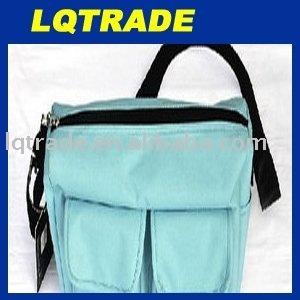 12PCS/Solar bag / charger bag / shoulder diagonal package / recreational sports bag / popular sky blue /apricot/gray
