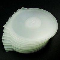 New 50pcs Transparent CD DVD Clamshell Case Plastic