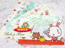 Free Shipping/New PP Cartoon rabbit File folder/A4 documents transparent file bag/stationery holders/Fashion Gift/Wholesale(China (Mainland))