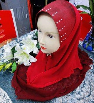 LRD257 Free shipping,fashion 2-layers silk muslim hijab, islamic hijab,muslim scarf