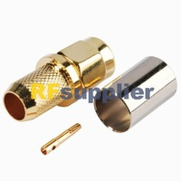 free shipping RP-SMA male straight connector crimp for RG6