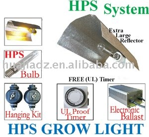 HPS400 Watt Grow Light System WING REFLECTOR HOOD Electronic Ballast Kit(China (Mainland))