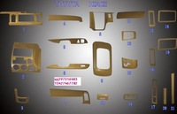 Toyota Hiace Interior - 3D paste pieces of peach wood