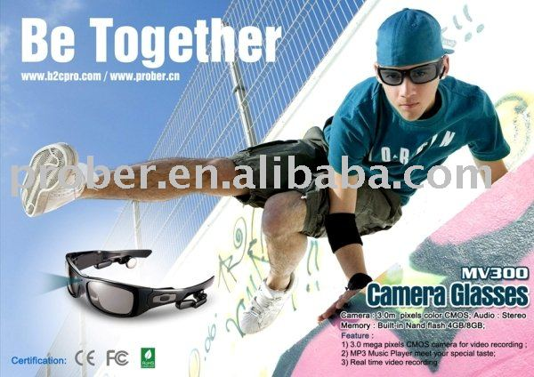 Camcorder Eyewear ,Mp3 Sunglasses with 3.0 mega pixels+DHL Free Shipping(China (Mainland))