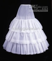 Wholesale new PETTICOAT SKIRT SLIP - 2011 new white BRIDAL GOWN DRESS CRINOLINE