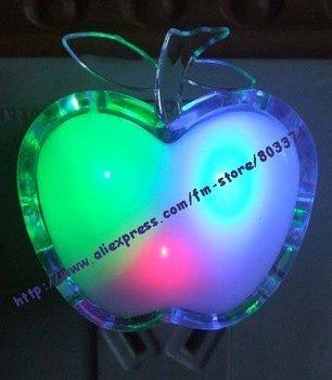 LED Light Colorful Apple Night Light, Beautiful and Romantic,energy saving lamp,20 pcs/lot free shipping