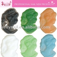 Free Shipping 12colors mixed  96pcs/lot Nail Art Nail Decoration Cameo Lady