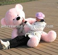 teddy bear ,pink teddy bear,160 pink plush teddy bear,birthday gift,free shipping+gift
