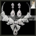 Fast Free Shipping! Gorgeous Alloy with Rhinestones and Crystal Wedding Bridal Jewelry Set Including Necklace and Earrings -JV41