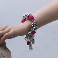 Wholesale NEW ARRIVAL  low price VERY STUNNING BRAND NEW TIBETAN SILVER TURQUOISE bracelet.TB-008
