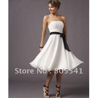 Free Shipping Yellow Scoop Cap Sleeves Short Satin Bridesmaid Dress BD/03/4417