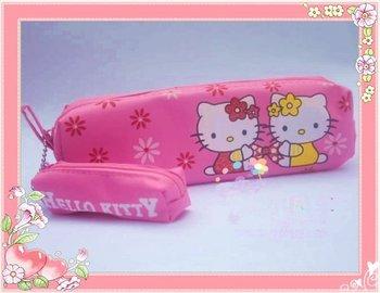 Wholesale - LOT / 30 PCS HELLO KITTY sanrio makeup pouch Cosmetic Box bag pencil case pencil bag B5