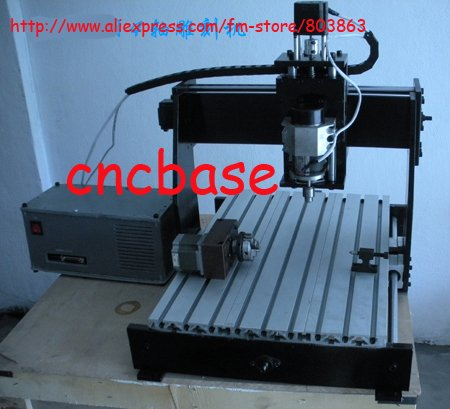 4Axis 380*280*95mm mini CNC router engraver drilling and milling machine engraving CNC 4030-4 & ballscrew and mach3 software(China (Mainland))