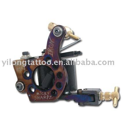 Free Shipping! Hot Professional Handmade Tattoo Machine Retail or Wholesale 10 Wrap Coils Machine(China (Mainland))