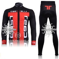 Free Shipping!! CYCLING LONG JERSEY+PANTS 2011 CASTRLLI PICK SIZE:S M L XL XXL XXXL