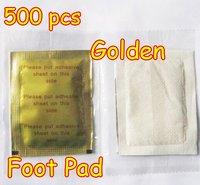 Golden 500 pcs/lot New Detox Foot Pad Patch & Adhesive Sheets EMS Shipping