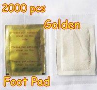 Golden 2000 pcs/lot New Detox Foot Pad Patch & Adhesive Sheets EMS Shipping