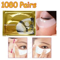 1080 pairs/lot Deck out Women Crystal Eye patch / Collagen Eye Mask Magical Beauty Anti Wrinkle