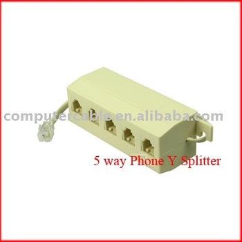 5 way Phone Y Splitter