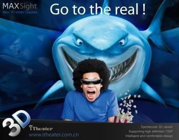 "iTheater 80"" 3D Video Glasses 720P MAXSight"