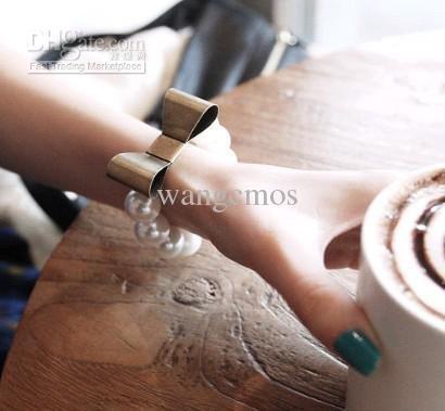 pérola bracelet/20pcs LOT retro arco pulseira de pérolas GRANDE / maior pulseira de pérolas / moda venda quente(China (Mainland))