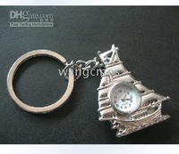 keychain watches/nacklace watches Sailboat pendant pocketwatches/retro sweater chain pocketwatches/