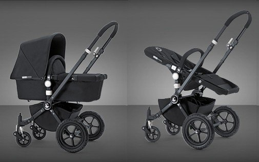 Popular All black denim bugaboo stroller(black chassi/black wheels) baby prams(China (Mainland))