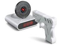 Shooting Game Laser Target Novelty Alarm Clock Funny Gun Clock 1pc/lot free shipping