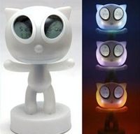 Magic cat eye clock,Led clock/table clock/home decoration 6pcs/lot free shipping