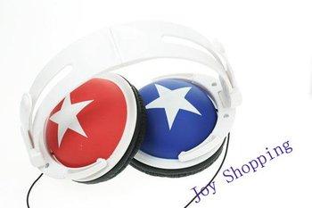Free shipping:20Pcs/Lot star earphone,mp3 mp4 earphone