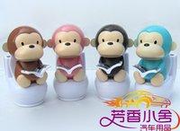 150 pcs/lot Solar toy mini solar toilet monkey toy,auto accessories,car decorative toys car decoration
