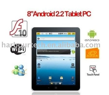 8inch Cortex A8 Android 2.2 MID Camera 4GB 512MB Flash 10.1 Tablet PC drop shipping support from Eternal Team