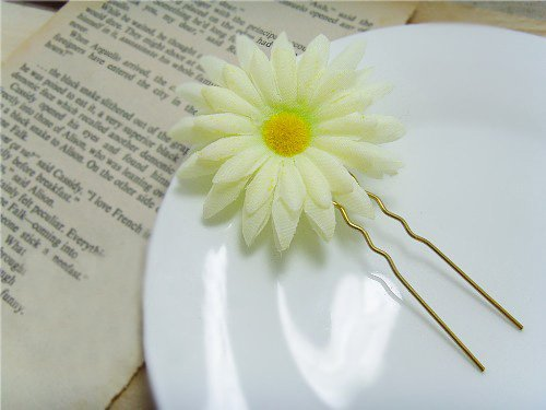 Pretty Daisy Hair Clasp Daisy Flower Hair Sticks Bridal Flower Hair Accessories E0131(China (Mainland))