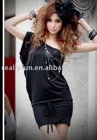 Hot sale,Free shipping Wholesale Single shoulder dress one shoulder dress Women's Bohemian Style Lady dress/ Women's Clothes