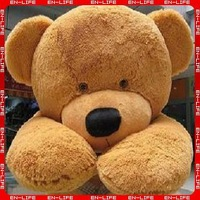 6 FEET TEDDY BEAR STUFFED LIGHT BROWN GIANT JUMBO 71""