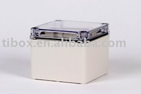 W125XH125XD100MM/CLEAR COVER/IP66/WATERPROOF ENCLOSURE/PLASTIC BOX/DISTRIBUTION BOX/TIBOX/FIBOX/HIBOX/WATERPROOF BOX