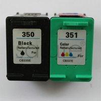 Wholesale for HP 350 black,for HP 351 color ink cartridges for HP DJ D4260/C4280/D4360/J6480/C5280/J5780 Printer